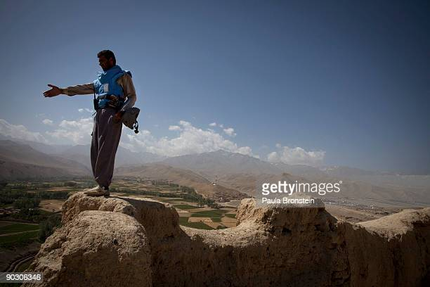 An Afghan deminer directs his team members on top the archaelogical site of Shahr-i-Gholghola September 2 , 2009 in Bamiyan, Afghanistan. Afghan...