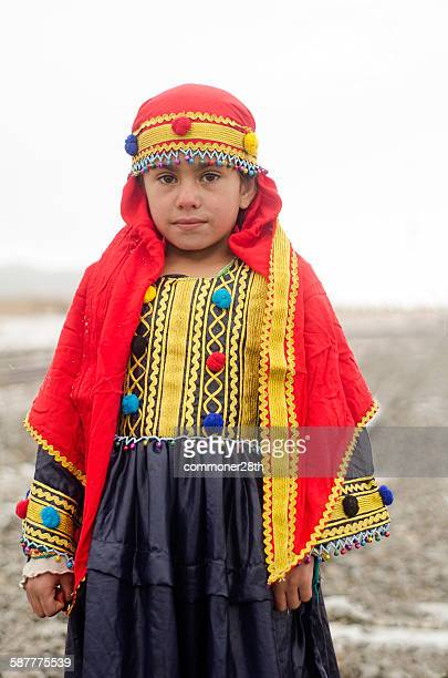 an afghan ethnic  baby girl - pathan girls stock photos and pictures