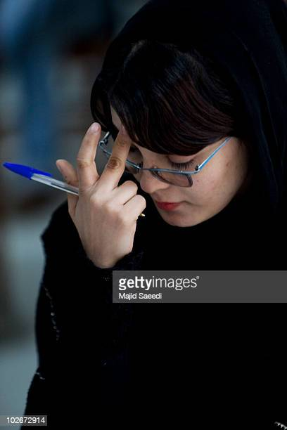 An Afghan female student attends Kabul university on July 6 2010 in Kabul Afghanistan The change in the status of women in Afghanistan has changed...