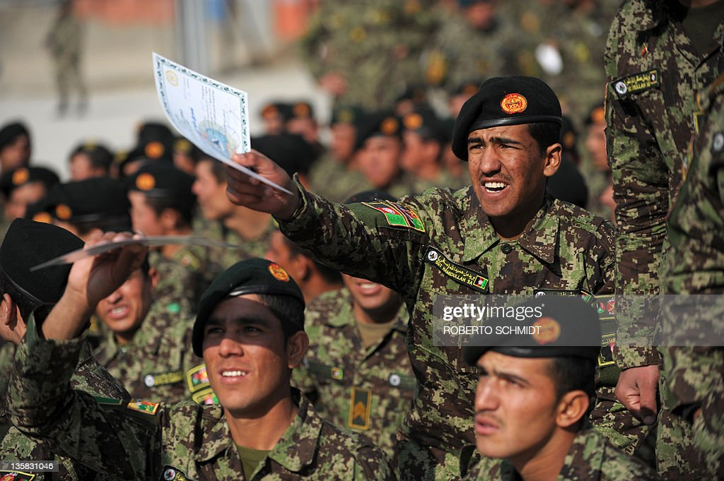an afghan national army ana cadet gest pictures getty images an afghan national army ana cadet gestures his diploma after a graduation ceremony