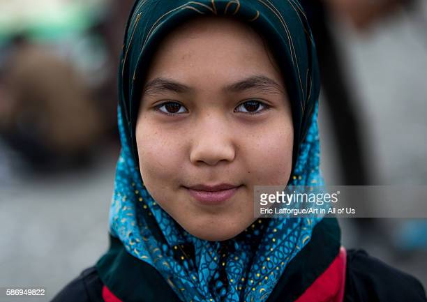 An afghan refugee girl in panjshambe bazar hormozgan minab Iran on December 31 2015 in Minab Iran