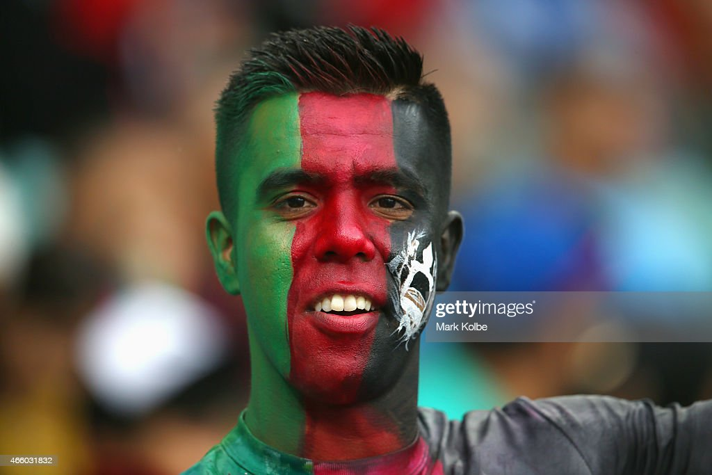 An Afghanistan supporter watches on during the 2015 Cricket World Cup match between England and Afghanistan at Sydney Cricket Ground on March 13, 2015 in Sydney, Australia.