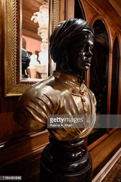An African bust at Sabyasachi Jewelry Indian couturier and jewelry designer Sabyasachi's first flagship jewelry store in the country on December 17...
