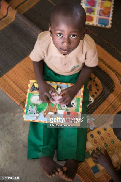 An African child during the care in a school of the Dreyer Foundation Here children are cared for and will be promoted The school is open to all...