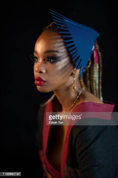 an african female studio portrait - fashion collection stock pictures, royalty-free photos & images