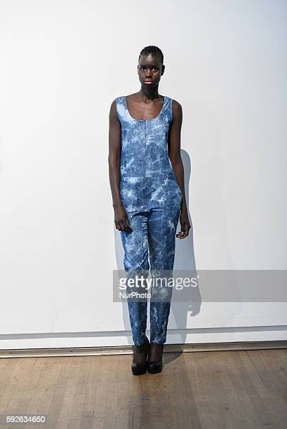 An African origin model posing backstage during the African Fashion Week in TorontoCanada on 20th August2016