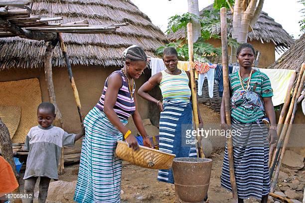 An African scene Andiel Village of the Bedick ethnos Senegal
