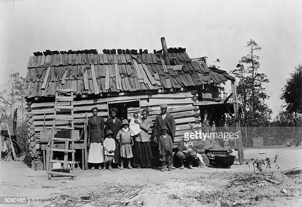 An African-American family near Southern Pines, North Carolina.