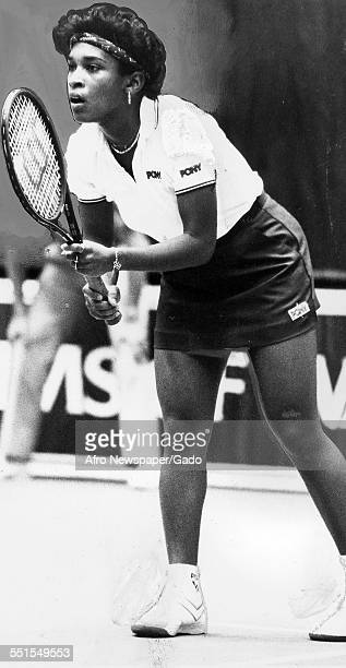 An African-American tennis player, Zina Garrison reached the semi finals of the Virginia Slims tennis tournament in the USA, New York City, 1974.