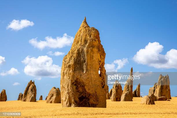 an afternoon at the pinnacles - rock formation stock pictures, royalty-free photos & images
