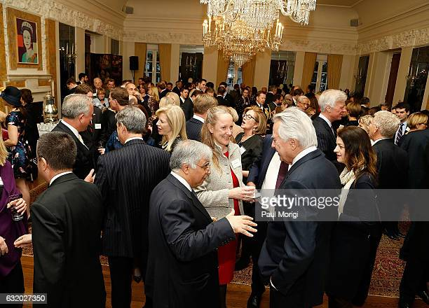 An Afternoon Tea hosted by the British Embassy to mark the U.S. Presidential Inauguration at The British Embassy on January 18, 2017 in Washington,...