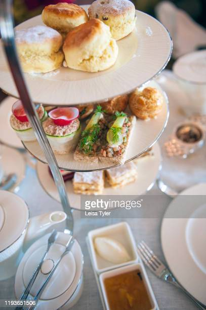 An afternoon tea or high tea set at the Eastern Oriental Hotel in Penang Malaysia Built in 1885 on George Towns north facing waterfront the EO was...