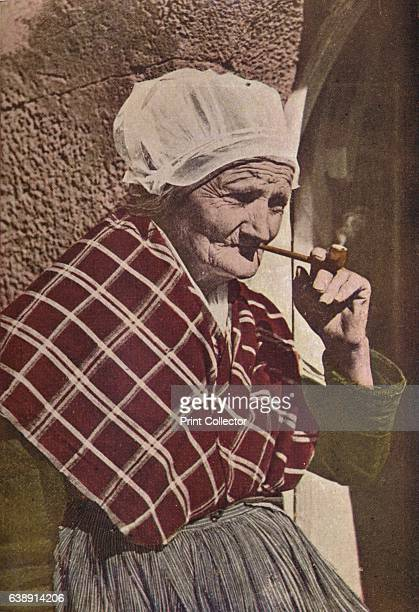 An Aged Bretonne' c1913 From With Pen and Camera in Three Continents by Charles J S Makin FIC FCS [The Tribune Publishing Company London 1913] Artist...