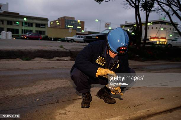 An agent from the ATF searches for evidence near the Oklahoma City bomb site on the day of the attack On April 19 Timothy McVeigh exploded a truck...
