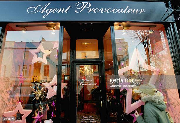 An Agent Provocateur shop is seen on December 18 2003 in London Agent Provocateur appears to be meeting their sales targets whereas other retailers...