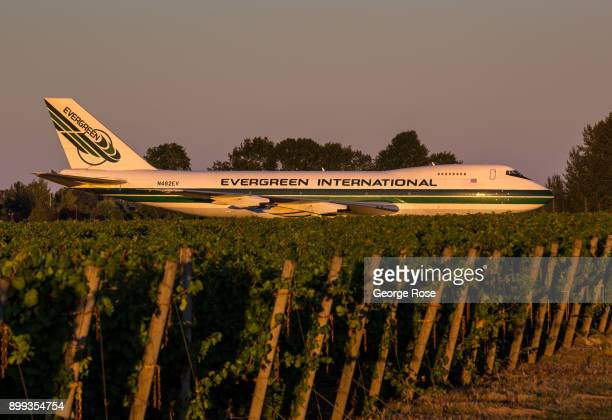 An aging Evergreen International Boeing 747 is park near a vineyard outside of the Aviation Space Museum on September 27 near McMinnville Oregon...