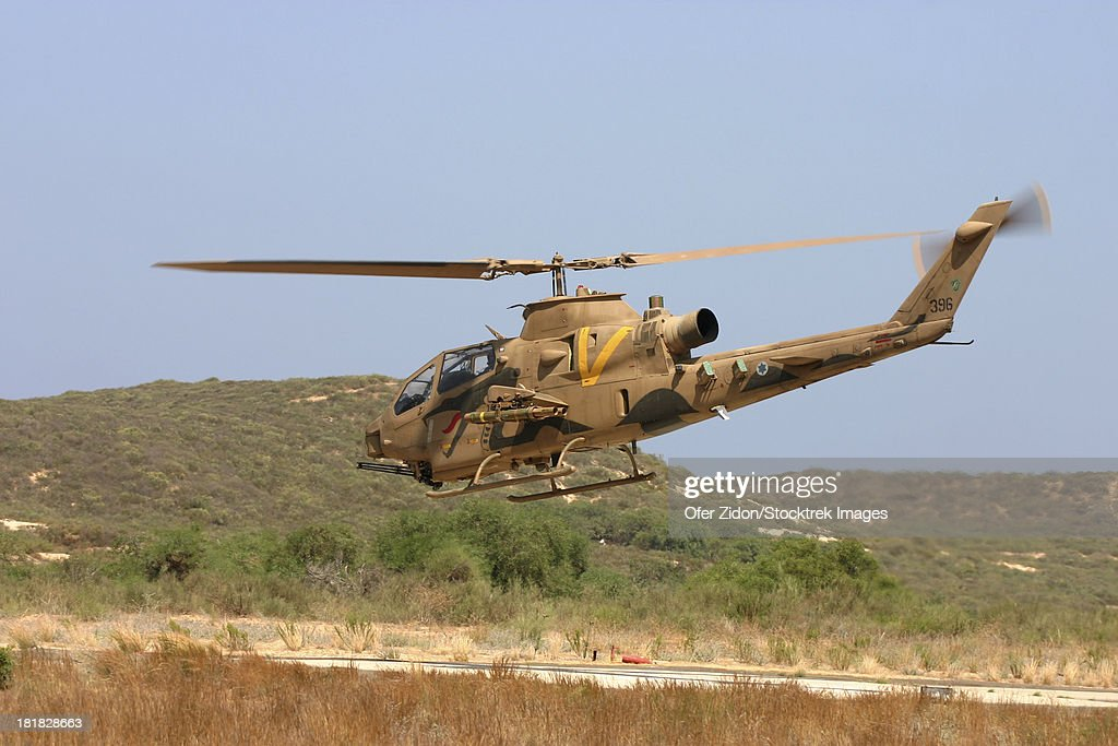 An Ah1s Tzefa Attack Helicopter Of The Israeli Air Force