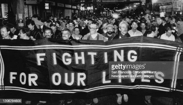An AIDS protest on .