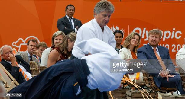 An Aikido demonstration is performed for HRH King Willem-Alexander and invited guests. At the TeamNL Olympic Festival. H.R.H. King William-Alexander...