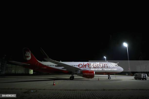 An Air Berlin plane is pictured at Munich International Airport on September 9 2017 in Erding Germany