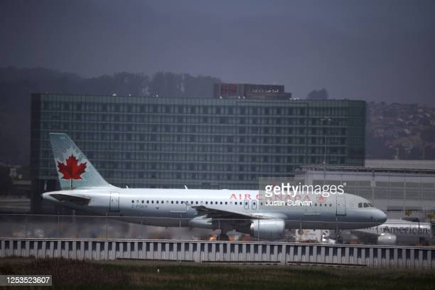 An Air Canada Airbus A320 prepares to take off from San Francisco International Airport to Toronto on June 30, 2020 in San Francisco, California....