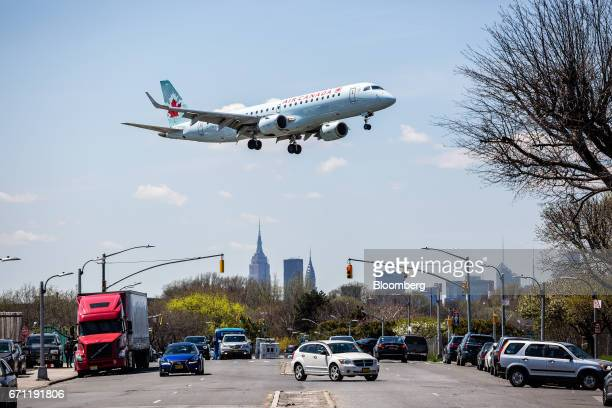 An Air Canada plane prepares for landing at LaGuardia Airport in New York US on Tuesday April 18 2017 An additional section of land could be of great...