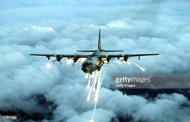 An Air Force Special Forces AC-130 gunship in an undated photo, which was used by the U.S. Military to attack targets around the Taliban of Kandahar...