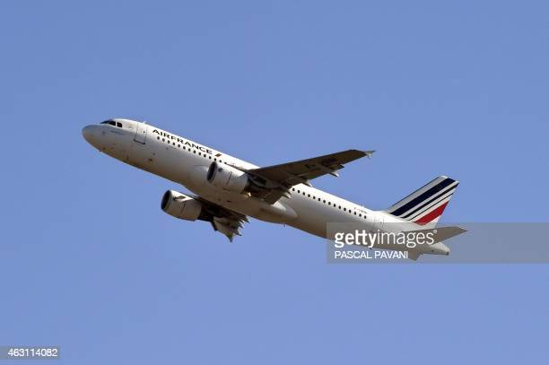 An Air France Airbus A320 takes off from ToulouseBlagnac airport on February 10 2015 AFP PHOTO / PASCAL PAVANI