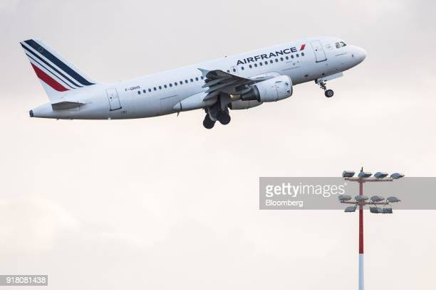An Air France passenger aircraft operated by Air FranceKLM Group takes off from Charles de Gaulle airport operated by Aeroports de Paris in Paris...