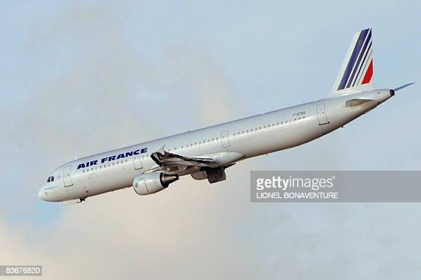 An Air France plane is going ready to land on November 13 2008 on the tarmac of Roissy CharlesdeGaulle airport outside Paris Air FranceKLM passengers...
