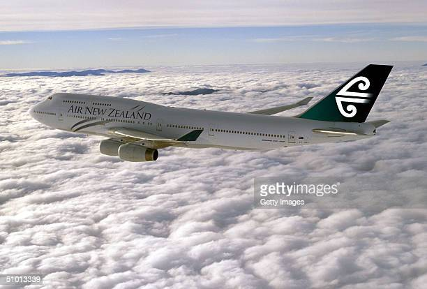 An Air New Zealand 747400 is seen in flight Beginning on June 30 Air New Zealand plans to operate three nonstop services services per week from San...