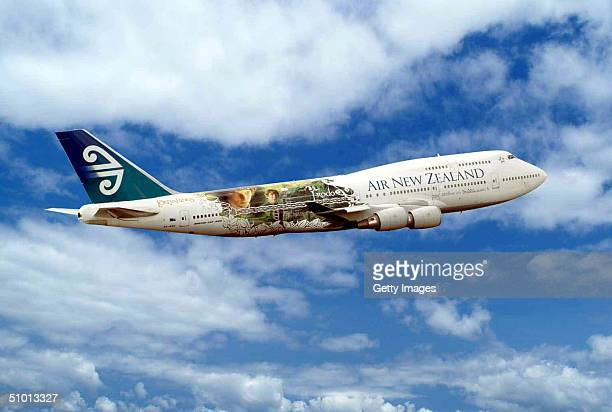 An Air New Zealand 747400 with new Lord of the Rings graphics is seen in flight Beginning on June 30 Air New Zealand plans to operate three nonstop...