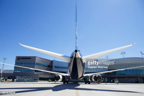 An Air New Zealand 7879 Dreamliner sits in its stall at the Boeing Delivery Center July 9 2014 in Everett Washington The 7879 Dreamliner was the...