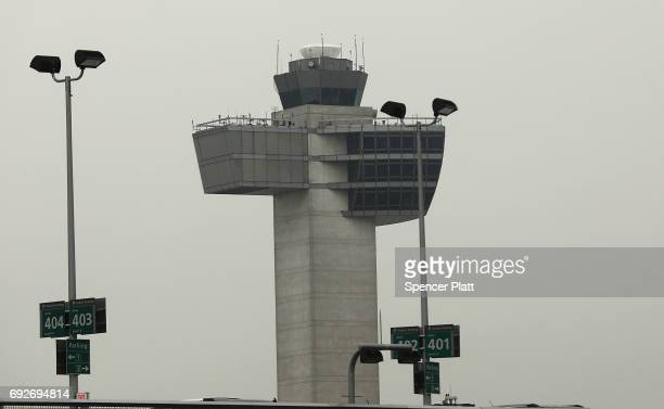 An air traffic control tower stands at John F Kennedy International Airport on June 5 2017 in New York City Part of what the White House is calling...