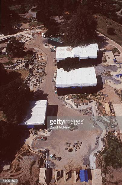 An Air View Of Larry Ellisons Home In Which Is Under Construction Located In Woodside Ca April 22 2000