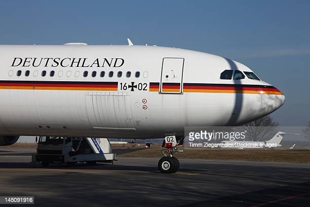 An Airbus 340 acting as Air Force One for the German Air Force.