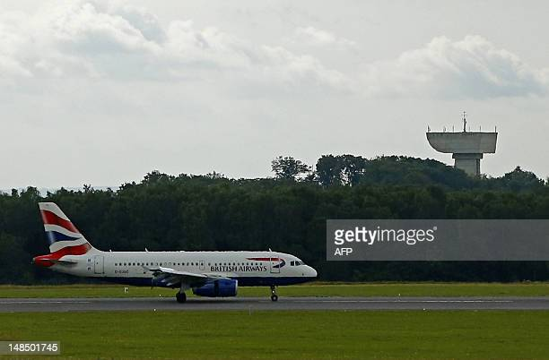 An Airbus A319 airplane of British Airways prepares for take off at Luxembourg Findel airport on July 18 2012 AFP PHOTO / ALEXANDER KLEIN