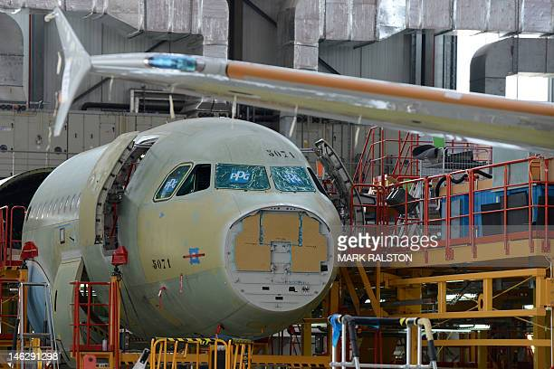 An Airbus A320 plane under construction on the assembly line of Airbus factory in the northern port city of Tianjin on June 13 2012 Tony Tyler who is...