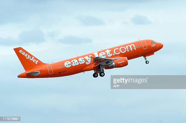 An Airbus A320 the 200th Airbus jet of the lowcost airline EasyJet takes off after a ceremony on May 26 which marked the delivery of to the nofrills...