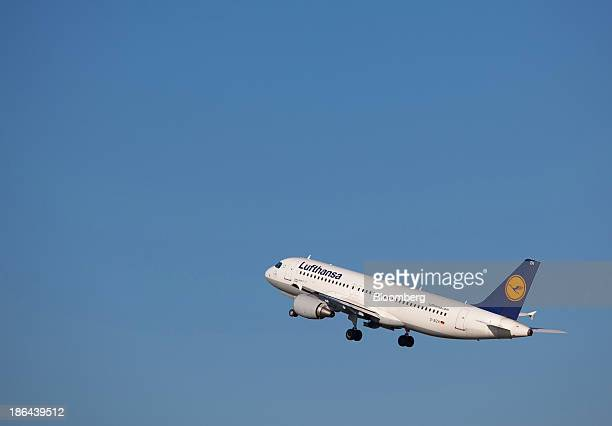 An Airbus A320200 aircraft operated by Deutsche Lufthansa AG takes off from Tegel airport operated by Flughafen Berlin Brandenburg GmbH in Berlin...