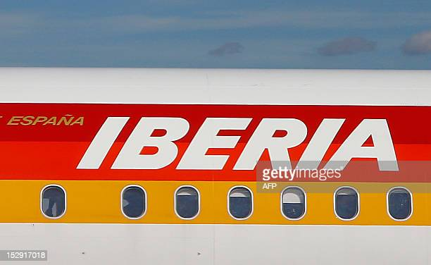 An Airbus A321 from Spanish airline Iberia prepares for taxi on the runway at Vienna Schwechat international airport some 20km east of Vienna on...