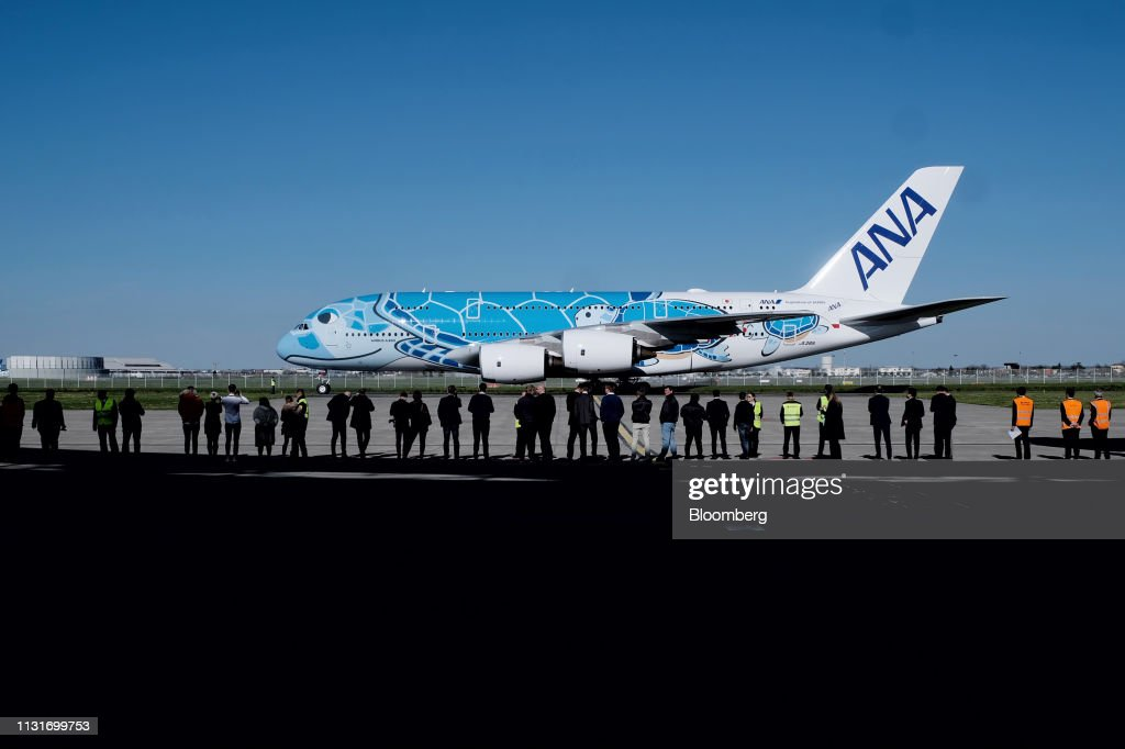 FRA: Nippon Airways Co. Take Delivery of an Airbus SE A380 Superjumbo