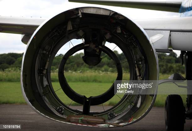 An aircraft that has had its engines removed waits at Air Salvage International at Kemble airfield to be dismantled on June 9, 2010 in Kemble,...