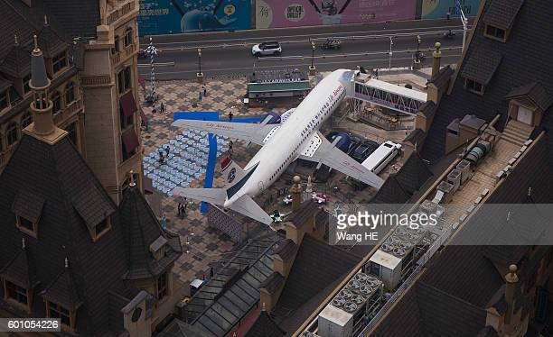 An airplane converted to a restaurant is seen on September 9 2016 in Wuhan Hubei province China Different from the past airplane theme restaurants...