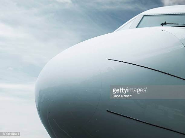 An airplane nose