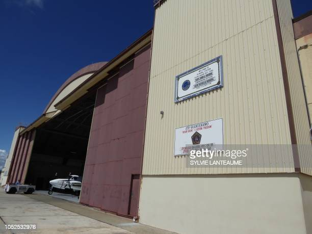 An airport hangar at the US Guantanamo Naval Base on October 15 in Guantanamo Base, Cuba. - The Guantanamo prison, which houses detainees accused of...