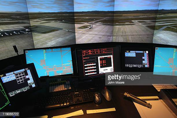 An airport tower simulator awaits air traffic controller trainees on July 14 2011 at the Denver International Airport in Denver Colorado The Federal...