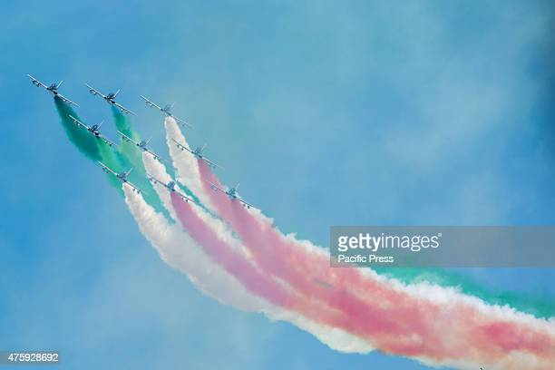 IMPERIALI ROME ROMA ITALY An airshow during the Festa della Repubblica or the Italian National Day which is celebrated on the 2nd day of June each...