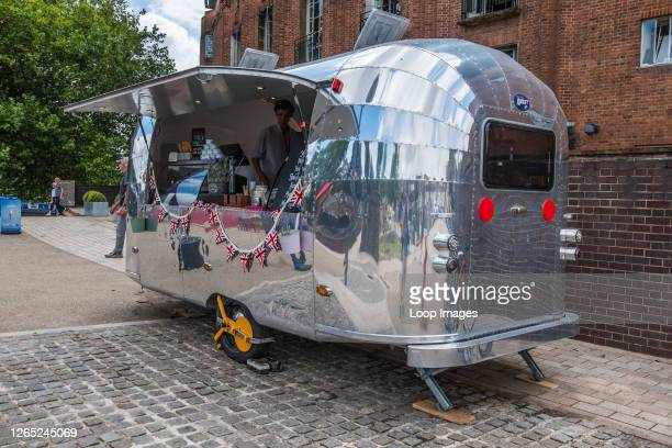 An Airstream caravan used as an ice-cream stall in Stratford upon Avon.