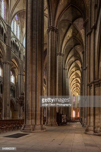 An aisle in Bourges cathedral, France